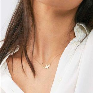 Minimalist Peace Dove 🕊 Gold Tone Necklace
